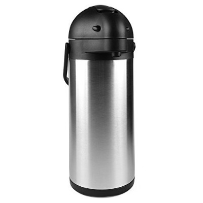 2990ml (3 Litre) Lever Action Airpot/Stainless Steel Thermos / 12 Hour Heat Retention / 24 Hour...