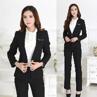 New 2015 Winter Spring Formal Pant Suits Ladies Office Uniform Design for Women Business Suits...