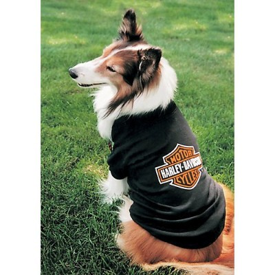 Harley Davidson Bar & Shield Logo Dog T-Shirt Medium by Harley-Davidson