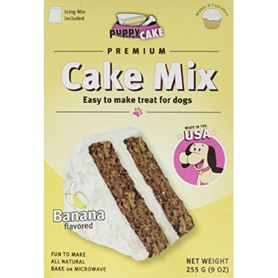 Puppy Cake Banana Cake Mix and Frosting - Net Wt. 9 oz(255g) by Puppy Cake