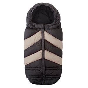 7AM Enfant Blanket 212 Chevron Extendable Baby Bunting Bag Adaptable for Strollers, Black/Beige by...