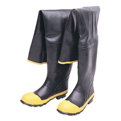 Liberty DuraWear Rubber Fabric Lined Protective Hip Wader Boot with Reinforced Knee and Front, Size...