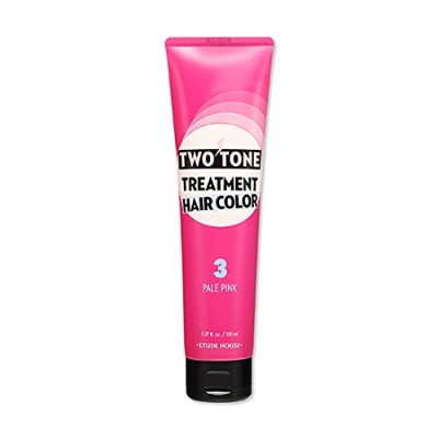 ETUDE HOUSE Two Tone Treatment Hair Color 3.PALE PINK / エチュードハウス ツートントリートメントヘアカラー150ml (3.PALE PINK...