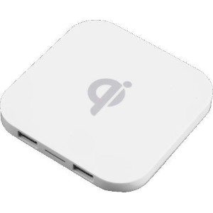 Qi Wireless Charger 置き型Qi 白 【チー】【非接触型給電】【充電器】