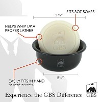Shaving Soap Ocean Driftwood with Black Ceramic Bowl -- 3 Oz Soap By Gbs by GBS