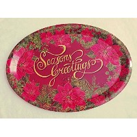 "13 "" x 18 ""プラスチック楕円形Holiday Appetizer Platters"