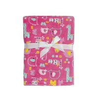 Baby Gear Plush Boa Ultra Soft Baby Girls Blanket 30 x 40 Pink Forest Friends by Baby Gear