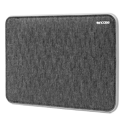 Incase ICON Sleeve with Tensaerlite for MacBook スリーブ 保護 ケース バッグ (12インチ, ブラック&グレー)
