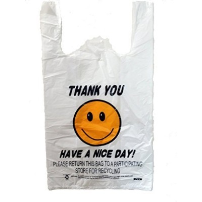PIC Happy Face Thank You Shopping Bags, Case of 280 by Rainbow plastic.,LLC [並行輸入品]