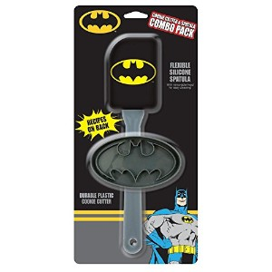 Batman Flexible Silicone Spatula With Durable Plastic Cookie Cutter by ICUP
