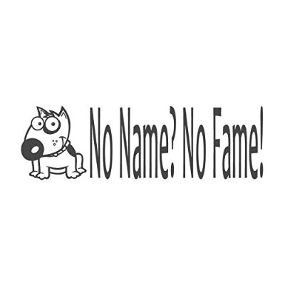 No Name ?No Fame 。With Bulldogイメージ、pre-inked先生ラバースタンプ( # 672609-k、スタイルK Stamp size (38x10mm) グリーン