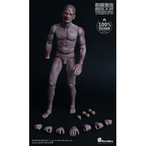 【WorldBox】AT-022 BODY CRAZY DURABLE zombie ゾンビ 1/6スケール 男性ボディ素体 ヘッド付