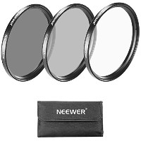 Neewer 67mmフィルターキット UV/CPL/ND4フィルター+フィルターケース+クリーニングクロース  CANON Rebel EOS:18-135mm EF-S IS STMズームレンズ...