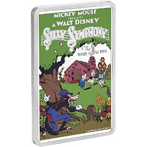 THREE LITTLE PIGS Disney Posters 1 Oz Silver Coin 2$ Niue 2017