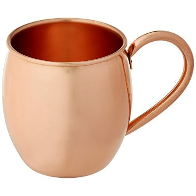 (470ml Barrel) - Solid Copper Moscow Mule Mug - 100% Pure Copper - Authentic Moscow Mule Mugs ...