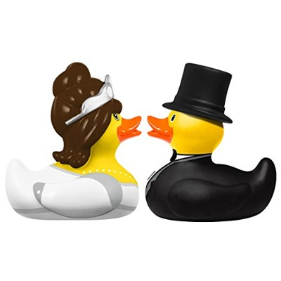 DUCKSHOP | Bride and Groom - Rubber Duck | Bathduck ゴム製のアヒル| | L: 6 cm