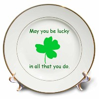 CherylsArt Holidays Saint Patricks Day – May you be lucky in all that you doグリーンシャムロック – プレート 8...