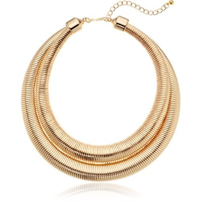 "Kenneth Jay Laneゴールド2行Collar Necklace , 18 "" + 3 "" Extender"