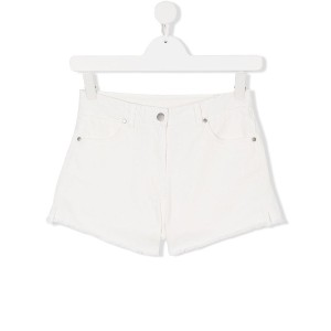 Stella Mccartney Kids teen denim shorts - ホワイト