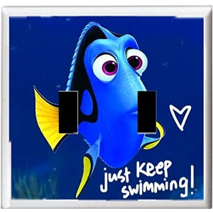 Got You Covered Finding Dory and Friendsライトスイッチカバーやコンセント 2x Toggle Option 2 ブルー NEMO