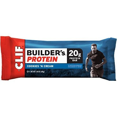 Clif Bar Builder's Bar, Cookies and Cream, 2.4-Ounce Bars, 12 Count by Clif Bar