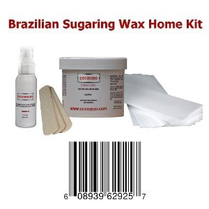 8 Oz Cocojojo Sugaring Brazilian Sugaring Wax Kit - Sugaring Hair Removal - 8 Oz Sugar Wax - 2 Oz...
