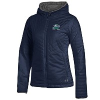 Notre Dame Fighting Irish Under Armour NCAA Puffer」レディースF / Zフード付きジャケット L