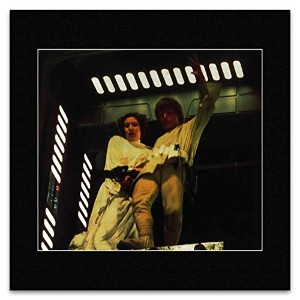 STAR WARS - Luke Skywalker and Princess Leia in the Central core Shaft. Mini Poster - 29.2x30cm