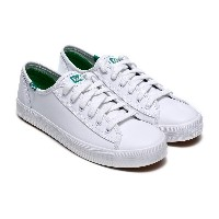 [Keds] KICKSTART LEATHER (WH56769) White/green (WT) sneakers