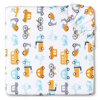 CircoTM Woven Fitted Crib Sheet - City on the Go by Circo
