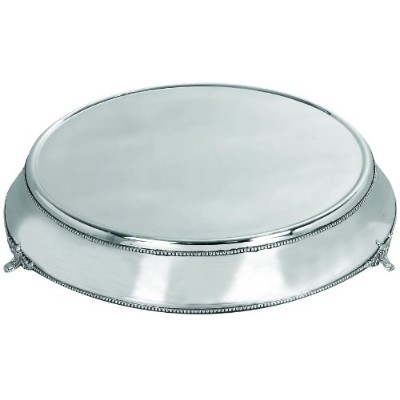 Deco 79 Stainless Steel Cake Plate with Silver Color by Deco 79