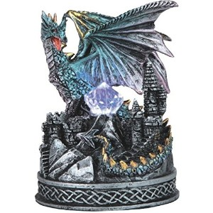 """StealStreet ss-g-71478ブルードラゴンon Castle Figurine with Light Up LEDクリスタル、4.75"""""""