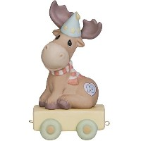 Precious Moments、誕生日ギフト、You Mean the Moose to Me、誕生日Train Age 13、Bisque Porcelain Figurine , #...