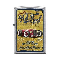 Zippo/ジッポー/オイルライター/喫煙具/ Zippo 207 VINTAGE HOT ROD classic car custom motor show poster RARE Lighter