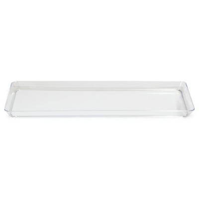 "Creative Converting BB179432 15.5"" Clear Plastic Rectangular Serving Tray -Each"