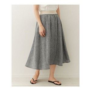 DOORS O'NEIL OF DUBLIN Linen Check Swing Skirt アーバンリサーチドアーズ【送料無料】