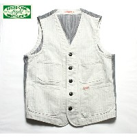 No.SC13736 SUGAR CANE LIGHT シュガーケーンライトCOTTON HERRINGBONE WORK VEST