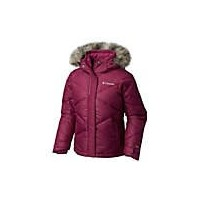 Columbia Big Girl 's Mini Lay D Down Jacket Dark Raspberry Dottyエンボス S