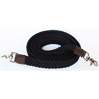 "ブラックコットンロープ状Barrel Racing Reins 7 ' x1 "" Braided Western Horse Tack 60747"
