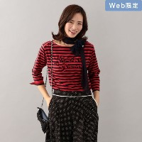SALE【トゥー ビー シック(TO BE CHIC)】 【WEB限定】【Tricolore】プチフルールボーダーカットソー レッド