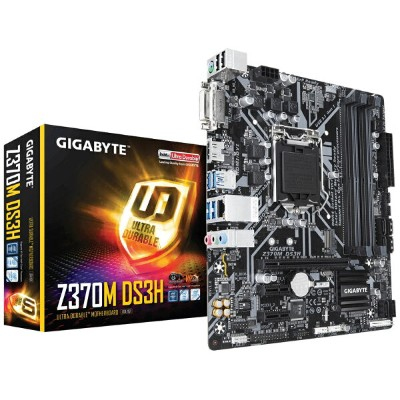 GIGABYTE Z370M DS3H Intel Z370 Ultra Durable Micro ATX マザーボード