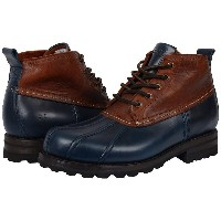 フライ メンズ ブーツ&レインブーツ シューズ Warren Duckboot Navy Multi Smooth Full Grain/Washed Vintage Leather