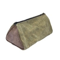 Durable Travel Dopp Kit for Toiletries Handmade by Hide & Drink :: Waxed Canvas