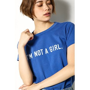 【AZUL BY MOUSSY】I'M NOT A GIRL TS BLU