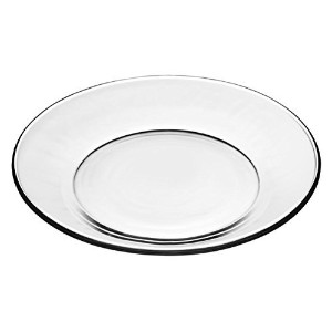 Libbey Crisa Moderno Glass Plates Box of 4 Salad/Dessert 7-1/2 Inch Clear by Libbey