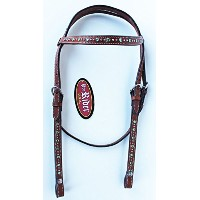 Show Tack Horse Bridle WesternレザーHeadstallライムグリーン8205h