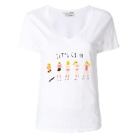 Cotélac Let's Go プリント Tシャツ - ホワイト