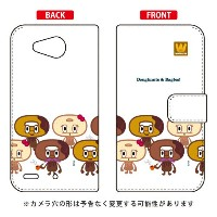 【送料無料】 手帳型ケース 「doughnut」 design by PansonWorks / for Qua phone PX LGV33/au 【SECOND SKIN】qua phone...