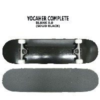 YOCAHER コンプリートスケートボード/スケボー BLANK COMPLETE SKATEBOARD SOLID BLACK 8.0 スケボー 完成品 SK8