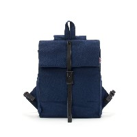 【80%OFF】THE ROLLTOP BACKPACK キャンバス バックパック ユニセックス ネイビー 旅行用品 > その他